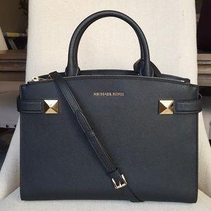 NWT Michael Kors MD Karla satchel black bag purse